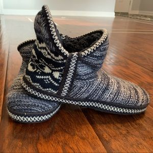 Mil Luks Knit Ankle Slippers